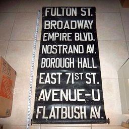 NYC BUS TROLLEY ROLL SIGN BROOKLYN FULTON BROADWAY NOSTRAND FLATBUSH AVE EMPIRE  | eBay | eBay US