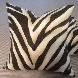 Ralph Lauren Tangiers Zebra pillow Cover in Ebony  Linen, Linen Backing | Etsy (US)
