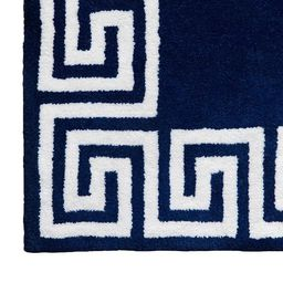 Greek Key Rug in Navy | Caitlin Wilson Design