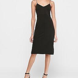 Soft Knit Midi Slip Dress Black Women's XXS Petite | Express
