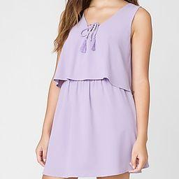 Layers To It Mini Dress Purple Women's M   Express