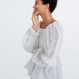 Karen Walker® Andromeda Shirred Top | Madewell