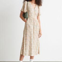 Flutter Sleeve Maxi Dress   & Other Stories