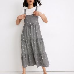 Embroidered Tiered Midi Dress in Gingham Check | Madewell