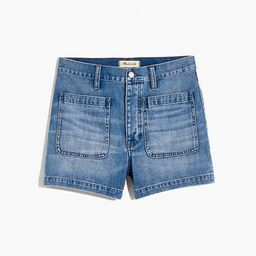 The Relaxed Dadjean Short in Parkglen Wash: Patch Pocket Edition   Madewell