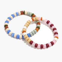 Two-Pack Matte Beaded Stretch Bracelet Set   Madewell