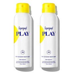 Supergoop! PLAY SPF 50 Antioxidant-Infused Body Mist w/ Vitamin C, 3 fl oz - 2 Pack - Reef-Safe, ... | Amazon (US)
