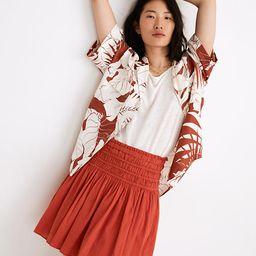 Smocked Pull-On Mini Skirt | Madewell