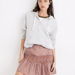 Gingham Seersucker Smocked Mini Skirt | Madewell