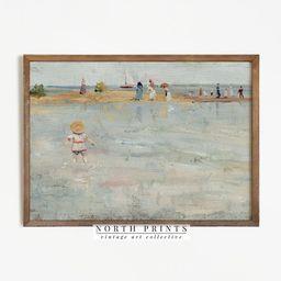 Vintage Nursery Coastal Painting   Beach Print Pastel PRINTABLE #596   Etsy (US)