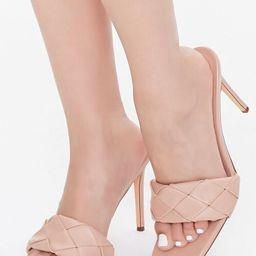 Crosshatch Square-Toe Stiletto Heels | Forever 21 (US)