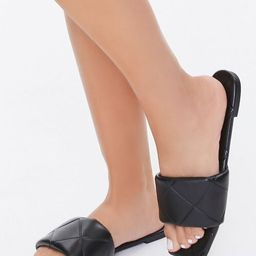 Quilted Square-Toe Sandals | Forever 21 (US)