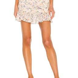 Lovers + Friends Jill Mini Skirt in Peach Ditsy Floral from Revolve.com | Revolve Clothing (Global)