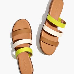 The Ilana Slide Sandal in Colorblock Leather | Madewell