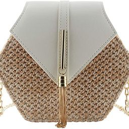 Bausweety Women's Crossbody Bag Cute Summer Straw Shoulder Bag | Amazon (US)