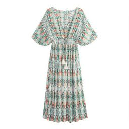 Multicolor Ikat Mira Kaftan Dress   World Market