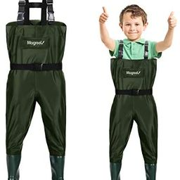 Magreel Kids Chest Waders Waterproof Nylon/PVC Youth Waders with Boots Fishing & Hunting Waders f... | Amazon (US)