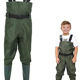 LANGXUN Hip Waders for Kids, Lightweight and Breathable PVC Fishing Waders for Children, Waterpro... | Amazon (US)