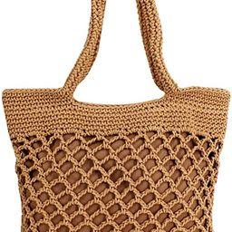Monique Women Small Cotton Crochet Handbag Top-handle Bag Summer Beach Tote Hobo Bag   Amazon (US)