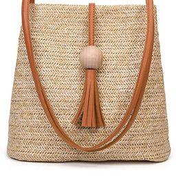 GL-Turelifes Round Summer Straw Bag Big Weave Handbags Beach Shoulder Bags Vocation Tote Handbags...   Amazon (US)