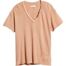Women's Distressed V-Neck T-Shirt   Nordstrom