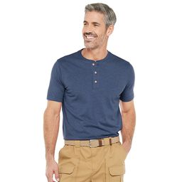 Men's Croft & Barrow® Classic-Fit Extra Soft Easy-Care Henley in Regular and Slim Fit   Kohl's