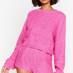 Soft Knit Sweater and Shorts Lounge Set   NastyGal
