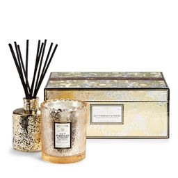 Voluspa Scalloped-edge Candle and Diffuser Set   Frontgate   Frontgate