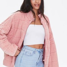 Quilted Zip-Up Jacket   Forever 21 (US)