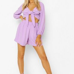 Knot Tie Top & Relaxed Fit Shorts   Boohoo.com (US & CA)