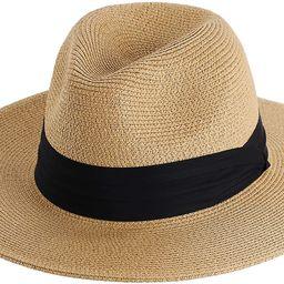 FURTALK Panama Hat Sun Hats for Women Men Wide Brim Fedora Straw Beach Hat UV UPF 50   Amazon (US)