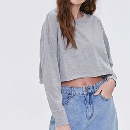 Raw-Cut Long Sleeve Top   Forever 21 (US)