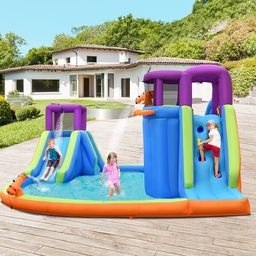 """15"""" W x 14"""" D Bounce House with Water Slide   Wayfair North America"""