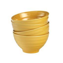 Woven Paths Yellow Farmhouse Stoneware Bowls, Set of 4   Walmart (US)