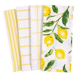 kaf home pantry lemons all over kitchen dish towel set of 4, 100-percent cotton, 18 x 28-inch   Walmart (US)