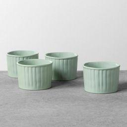 Hearth & Hand with Magnolia Stoneware Ramekin x 4 pcs Cookware Green   Walmart (US)
