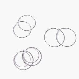 Textured Hoop Earrings | Forever 21 (US)