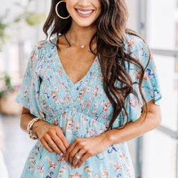 Make Me Feel Seafoam Green Floral Top | The Mint Julep Boutique