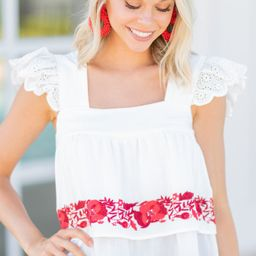 Forever And Always White Embroidered Top | The Mint Julep Boutique