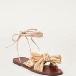 Peony Bow Wrap Sandal Gold | Loeffler Randall