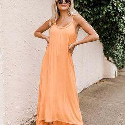 Twirl All Night Orange Braided Neck Jersey Midi Dress | The Pink Lily Boutique