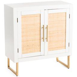 Wood And Rattan Cabinet | TJ Maxx