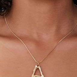Letter Text Pendant Necklace   Forever 21   Forever 21 (US)