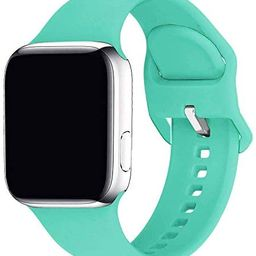 Lakvom Sport Band Compatible for Apple Watch 38mm 42mm 40mm 44mm, Soft Silicone Replacement Strap... | Amazon (US)