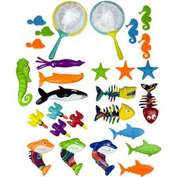 Play Day Pool Party Dive Play Pack 28 Piece Underwater Diving Toys Set | Walmart (US)