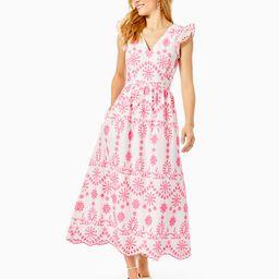 Lillyanne Eyelet Midi Dress | Lilly Pulitzer