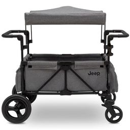 Jeep Wrangler Stroller Wagon with Included Car Seat Adapter by Delta Children - Gray   Target