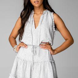 Sage Tie Waist Mini Dress - Rubble | BuddyLove