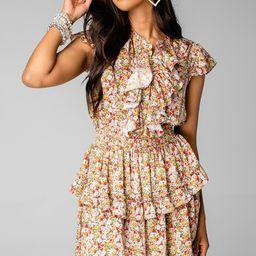 Astrid Ruffle Front Mini Dress - Orchard | BuddyLove