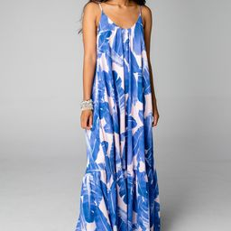 Katey Scooped Neck Maxi Dress - Havana | BuddyLove
